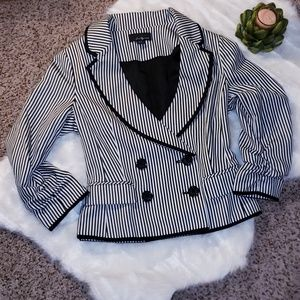 Black and White Stiped Blazer